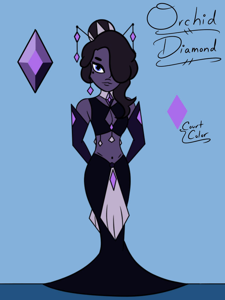 diamond ninicee art mural deviantart on orchid by