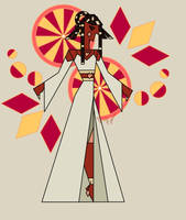 Sunburst Diamond Mural by Gnome-Queen