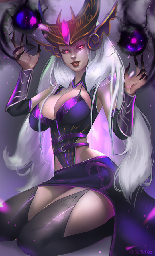 Syndra ~A whole world to toy with me by Minoryfox