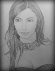 Kim Kardashian Portrait by OMKDrawings