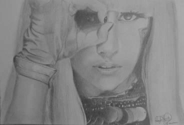 Lady Gaga by OMKDrawings