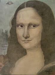 The Mona Lisa ALIEN by OMKDrawings