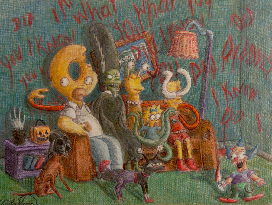 The Simpsons Couch of Horror by OMKDrawings