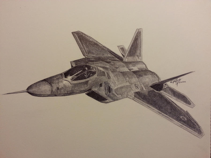 F-22 Raptor Fighter by...F 22 Drawing
