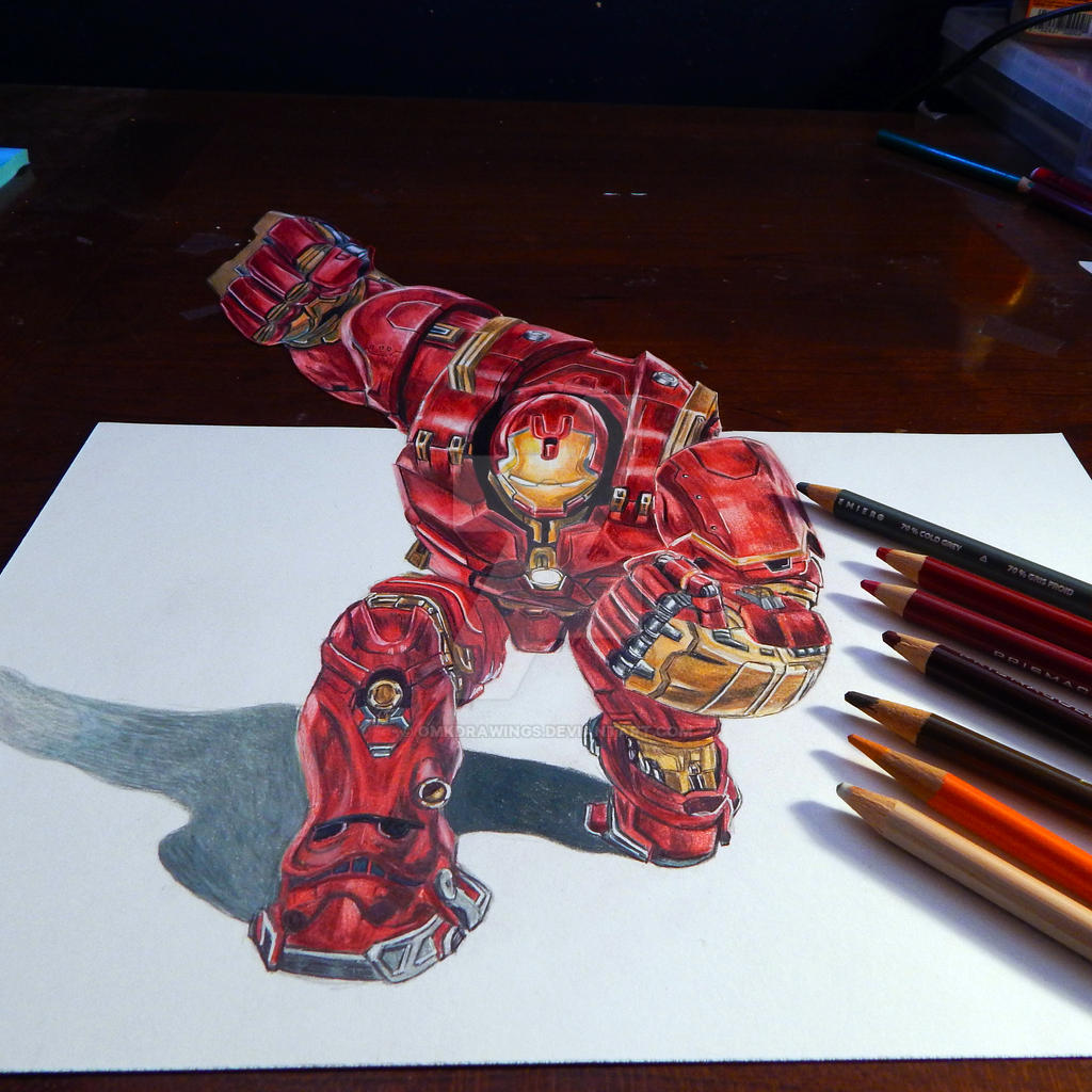 HULKBUSTER 3D Drawing by OMKDrawings on DeviantArt