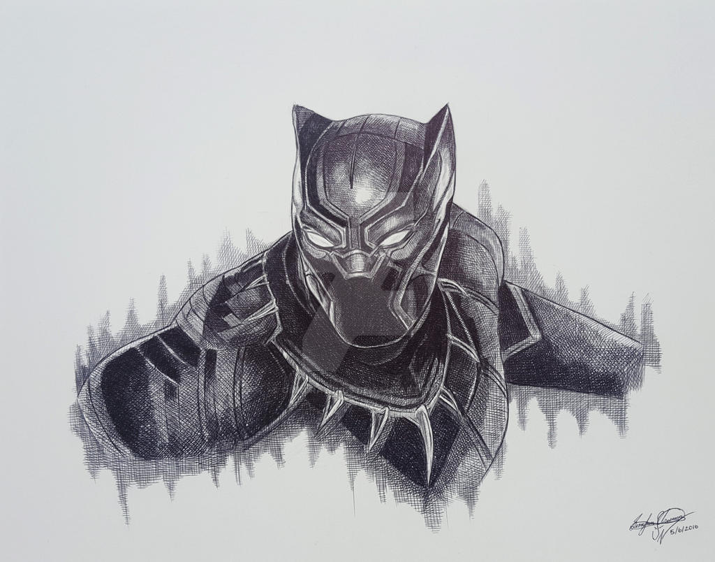 BLACK PANTHER CAPTAIN AMERICA CIVIL WAR By OMKDrawings On