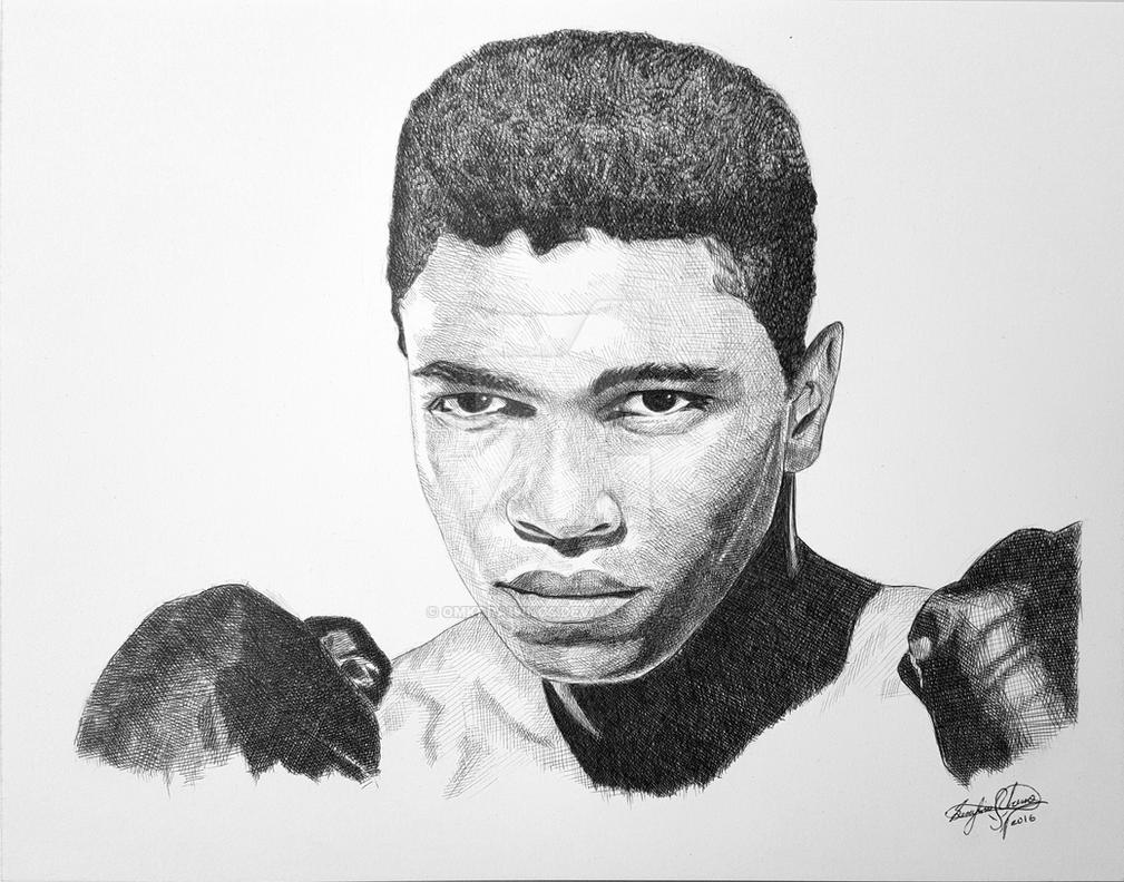 Muhammad Ali The Greatest by OMKDrawings
