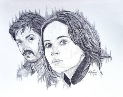 Star Wars Rouge One Jyn Erso and Cassian Andor