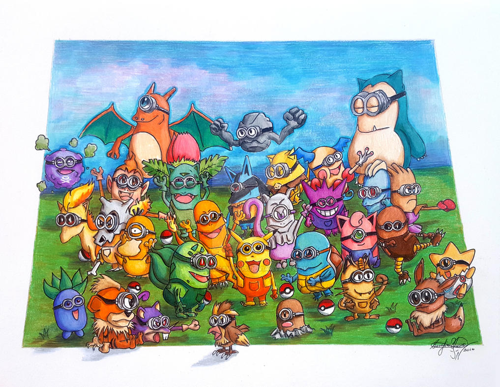 If Minions were Pokemon by OMKDrawings