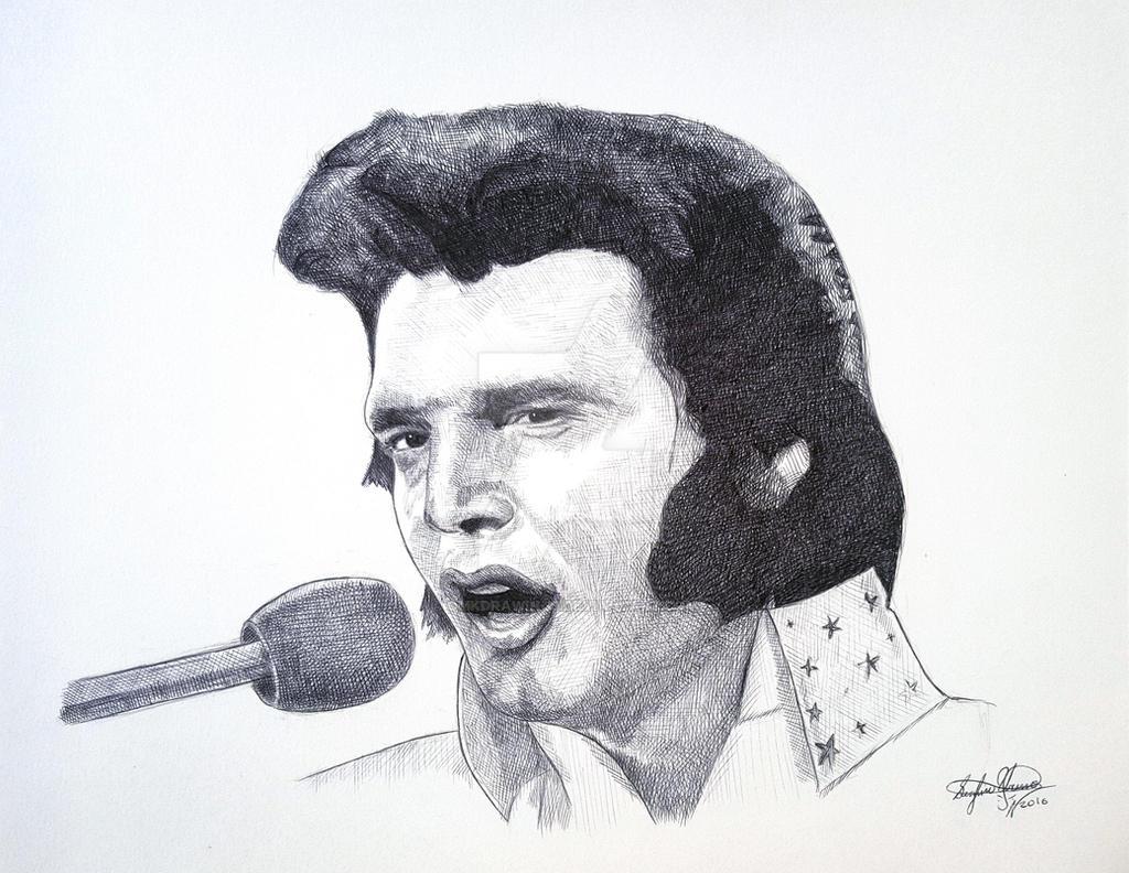 Elvis Presley The King of Rock by OMKDrawings