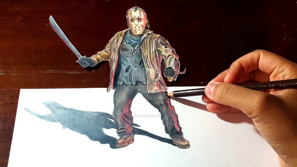 JASON VOORHEES: Anamorphic Illusion by OMKDrawings