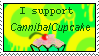 I support CannibalCupcake by TakuniChan