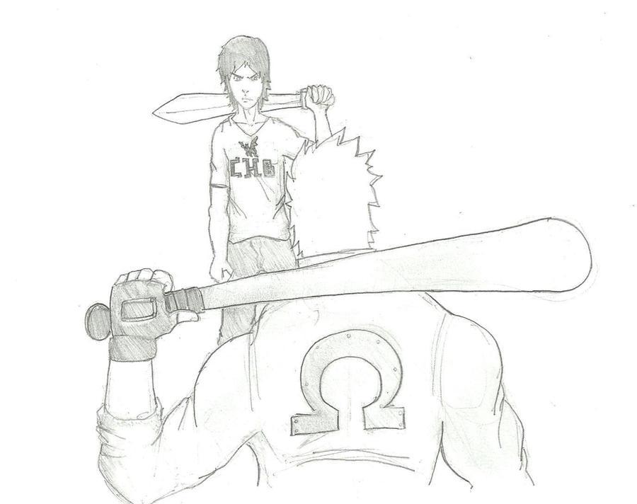 how to draw percy jackson cartoon