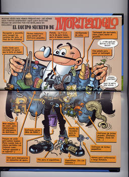 Secret equipment of Mortadelo