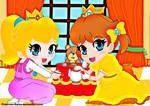 Baby Daisy-baby Peach:Tea time