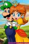Luigi and Daisy - happy couple