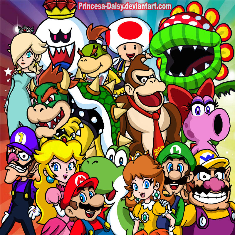 Super Mario Team By Princesa Daisy On DeviantArt