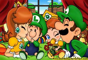 Luigi and Daisy - Our littles sweeties by Princesa-Daisy