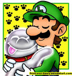 Luigi and Polterpup (Aka- Nicco)