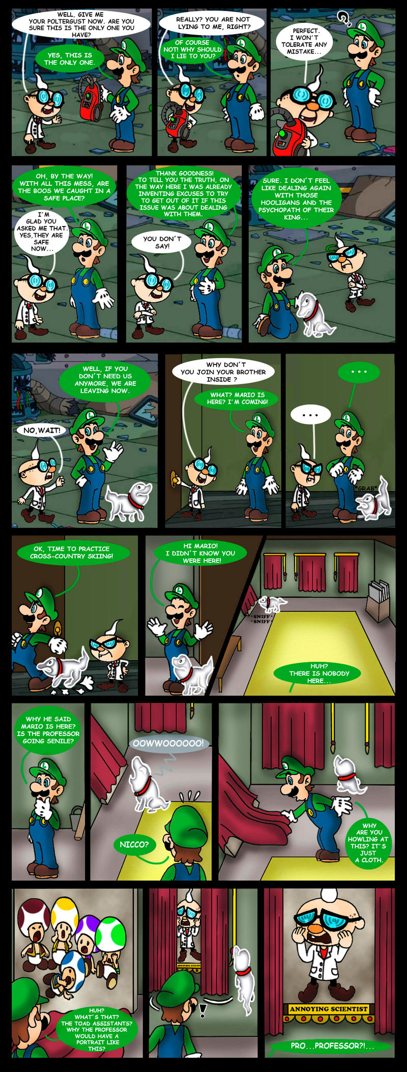 Luigi S Mansion 3 Comic Dark Illusions 3 By Princesa