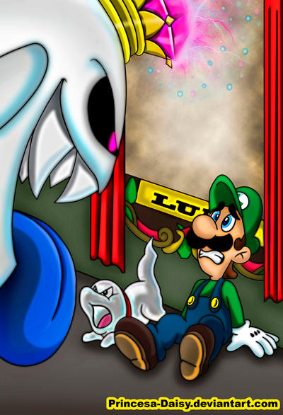 Luigi's Mansion 3 comic - Dark Illusions Cover by Princesa-Daisy