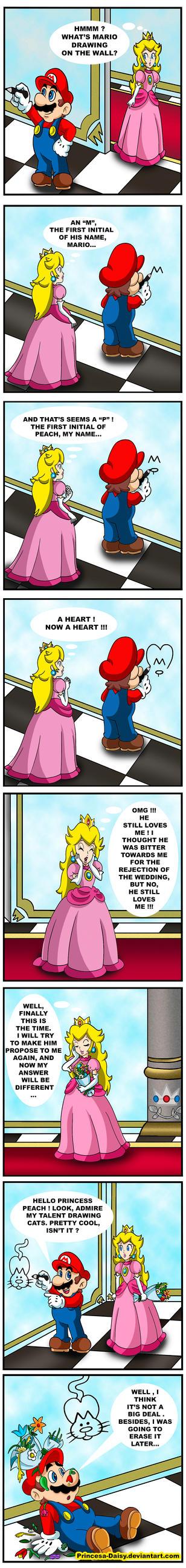 Mario and Peach - Drawing skills by Princesa-Daisy