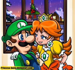 Luigi and Daisy - Under the mistletoe