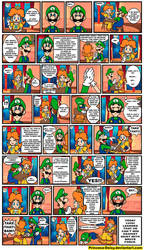 Luigi and Daisy - Arm Wrestling