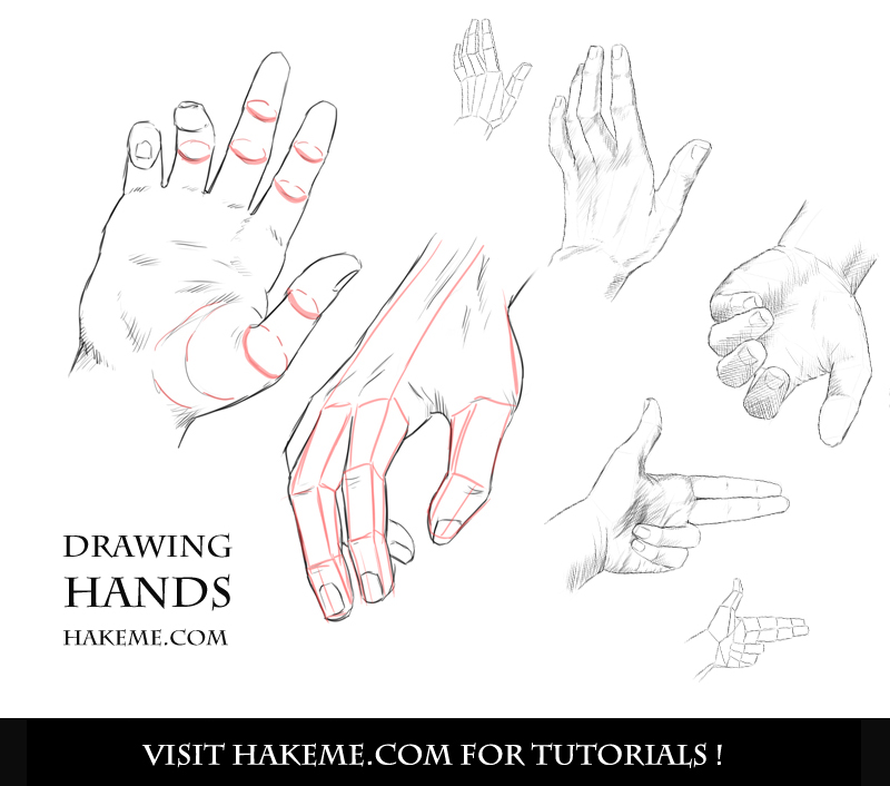 Holding hands drawing step by step