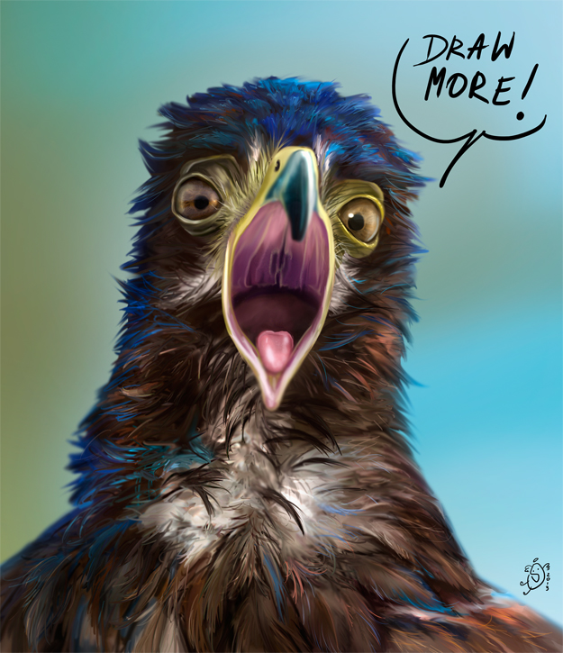 Motivational eagle by NImportant