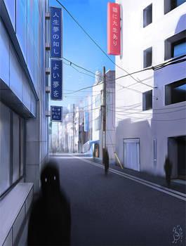 Shadows in Asakusa
