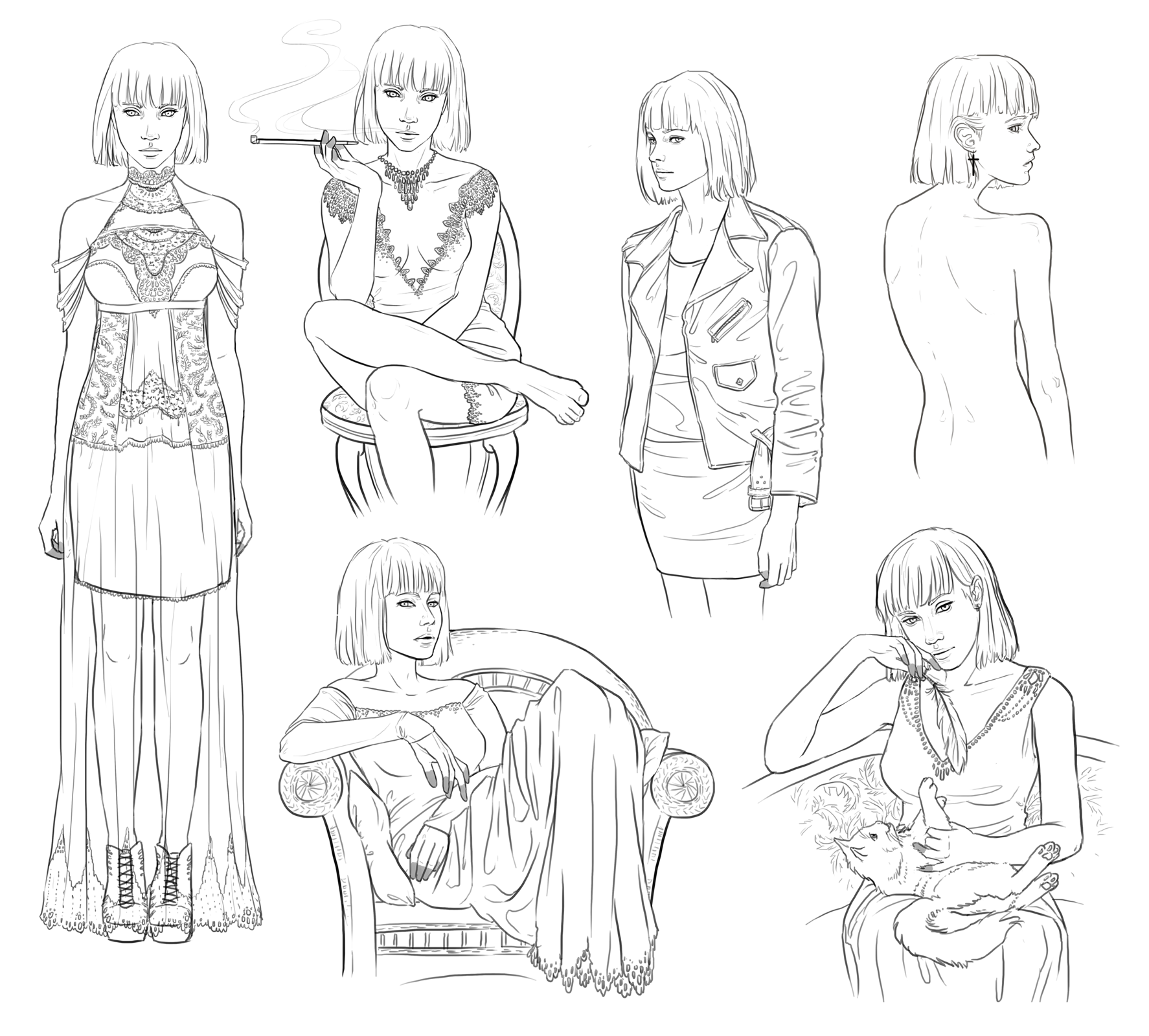 Agata - sketchdump by NImportant