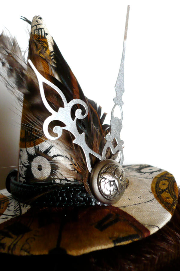 Steampunk Witch Hat Front by teatimeinc