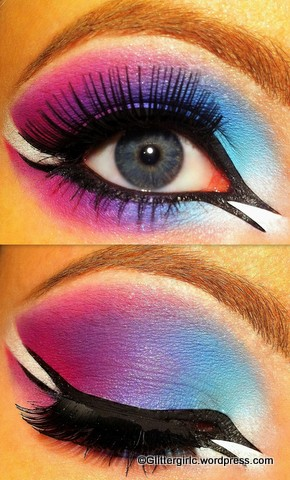 Colorful Arabic Eye! :) by GlitterGirlC