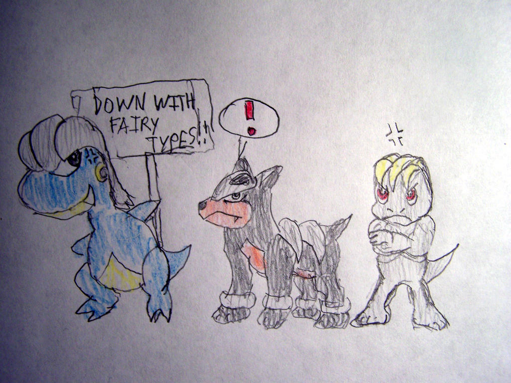 Down with Fairy type Pokemon!! by Vyel