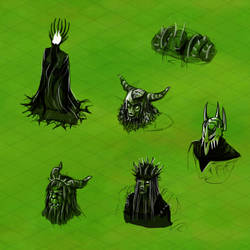 Evil dark lords concepts by anujanimator