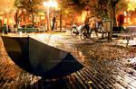 one rainy Amsterdam night