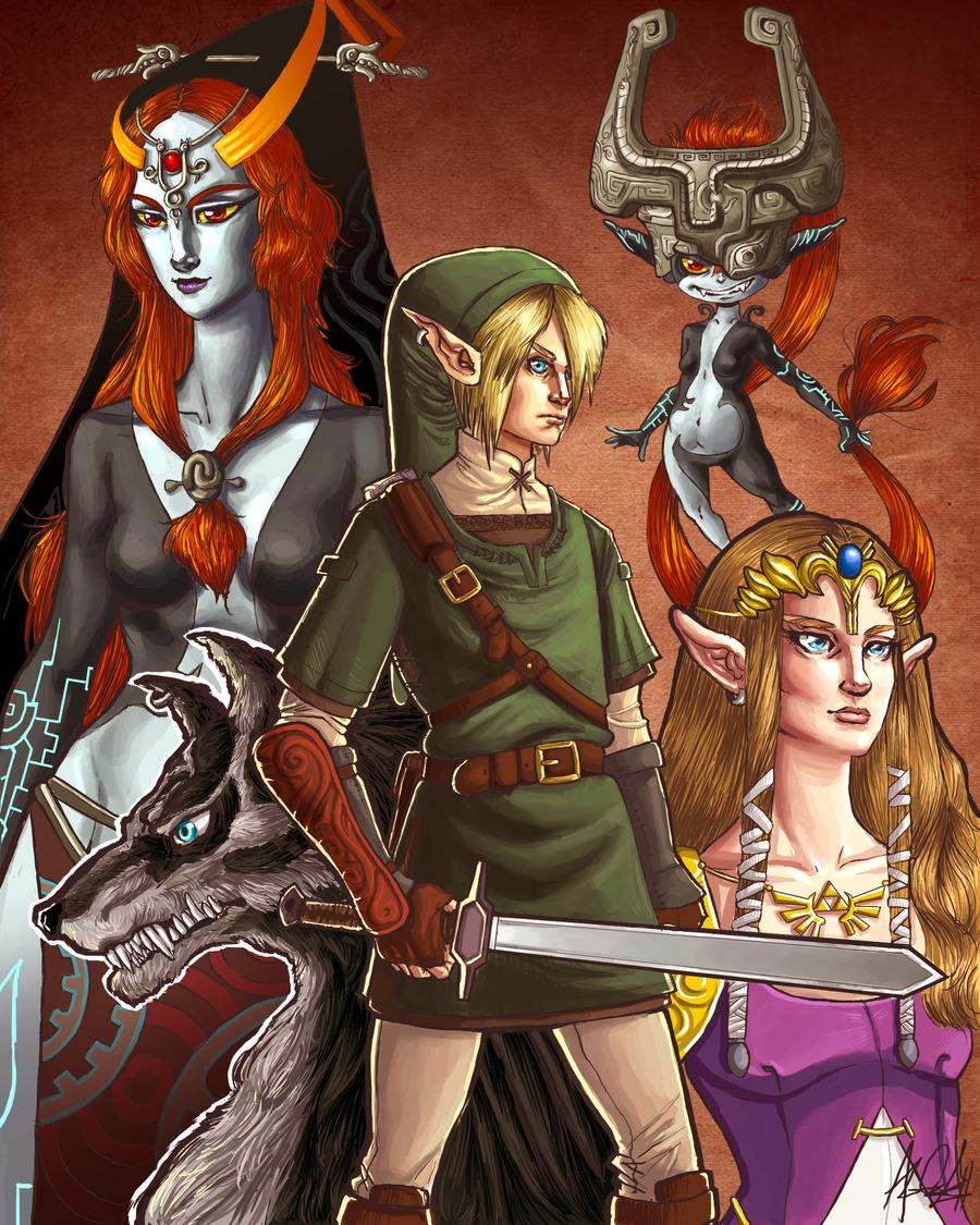 Zelda Twilight Princess Poster by alexa