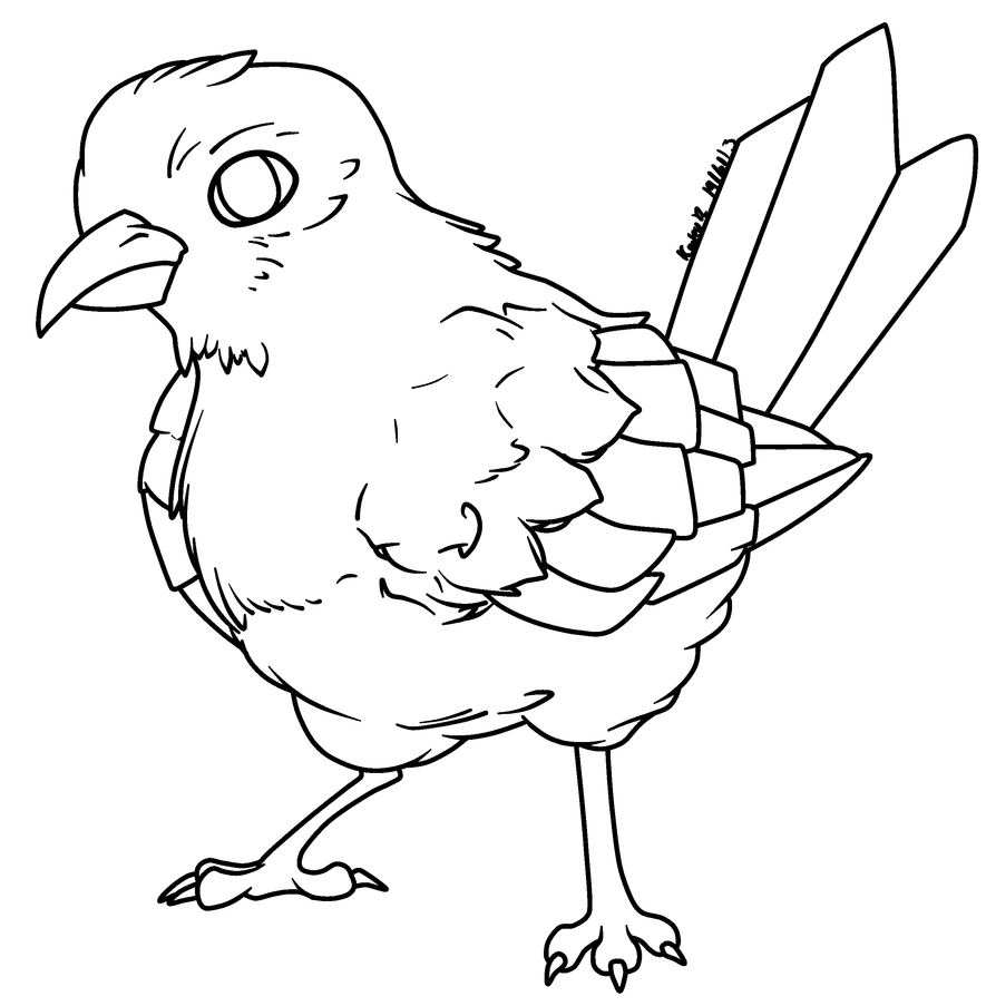 Line Drawing Of Animals And Birds : Rq bird lineart by abyssinchaos on deviantart