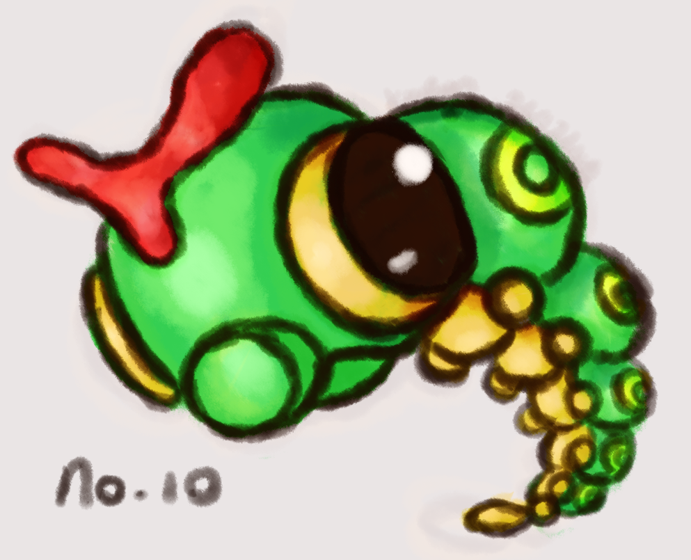No. 010 Caterpie by AbyssinChaos
