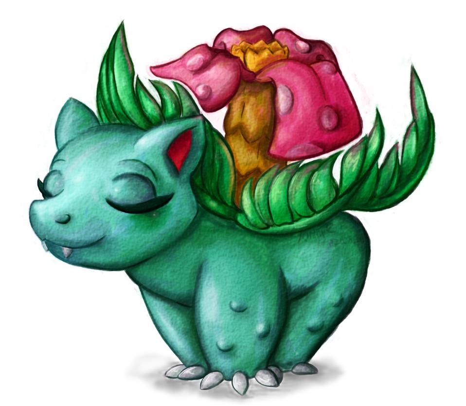 Draw Me A Pokemon: Venusaur by AbyssinChaos