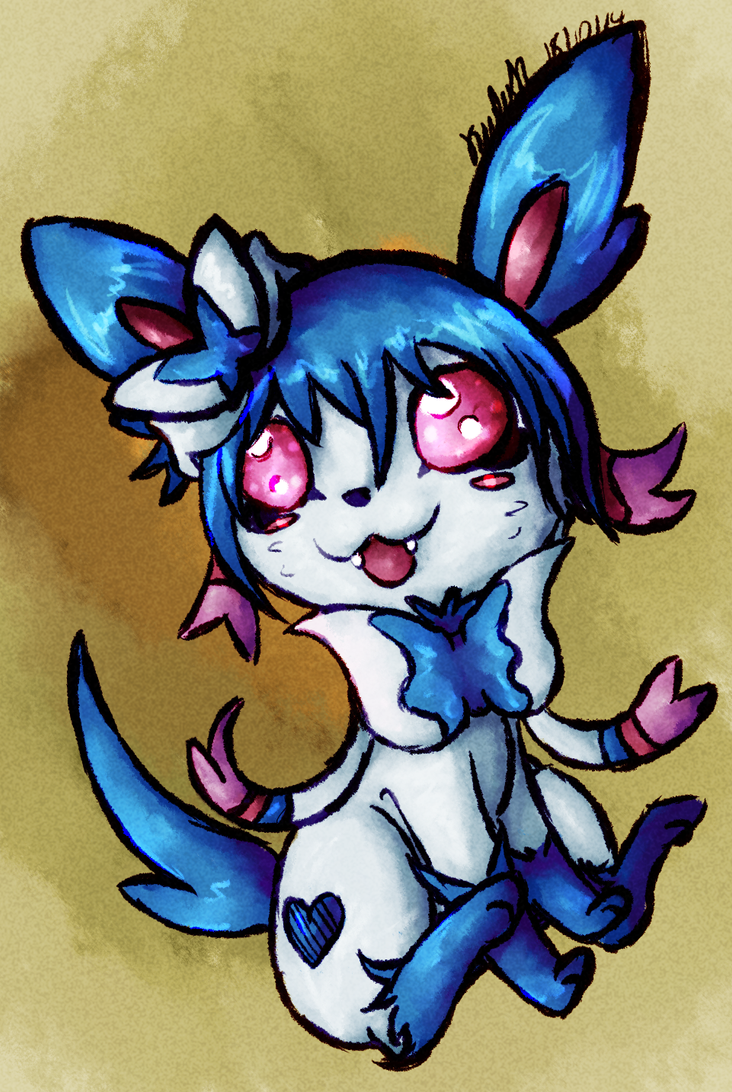 Quick Drawing: Shiny Sylveon by AbyssinChaos