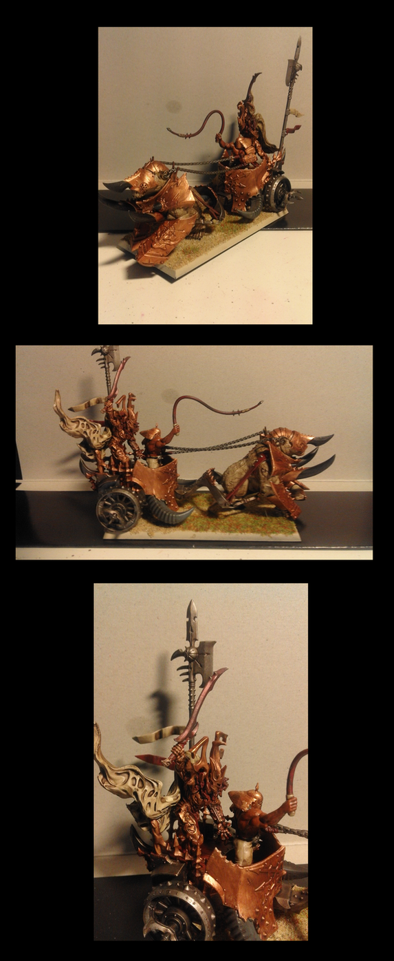Tzeentch Gorebeast Chariot by Vergoner