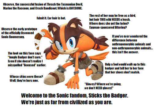 Welcome, Sticks the Jungle Badger!