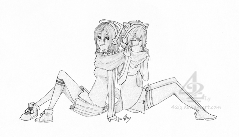Share a scarf with me - request by 42Ly