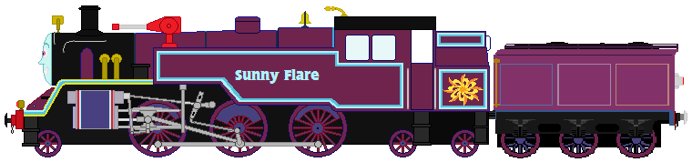 Sunny Flare As A Thomas And Friends Character by Humberto2000