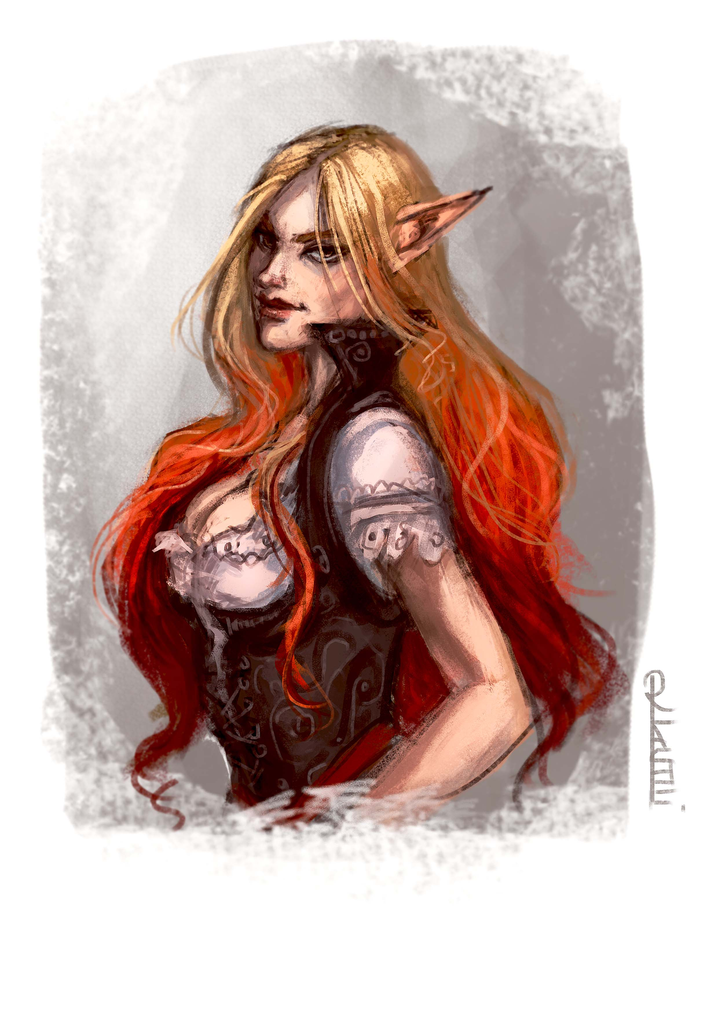 Pheolia Emberkiss Bust by mad-as-a-march-hare