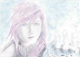 Final Fantasy 13 Lightning art by Antonios-Arts