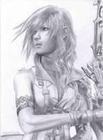 FFXIII Lightning portrait by Antonios-Arts