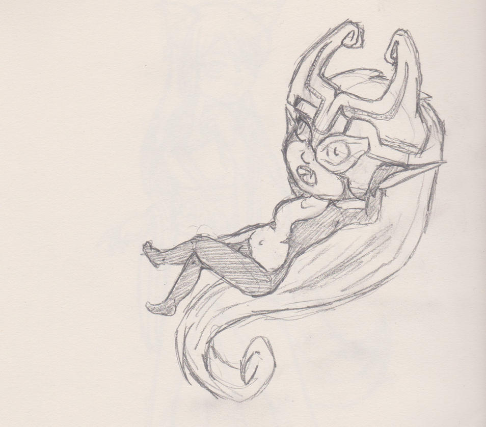 Work sketches- Midna by whiskers